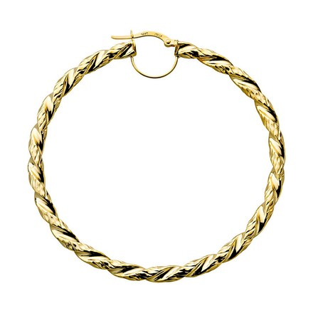 Selling: Y/G Fancy Twisted Hoop Earrings