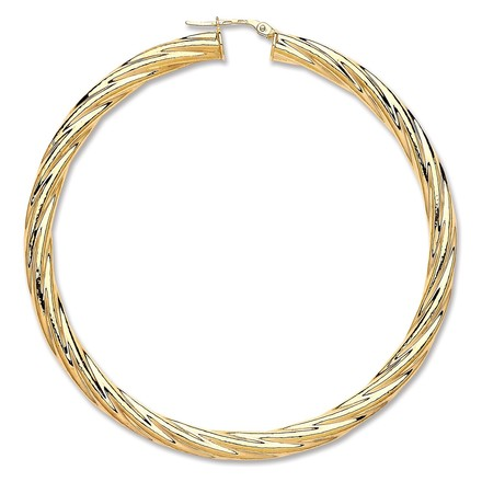 Selling: Y/G Large Twist Hoop