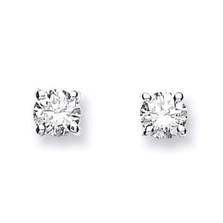 Selling: 18ct White Gold 0.61ctw Claw Set Diamond Stud Earrings