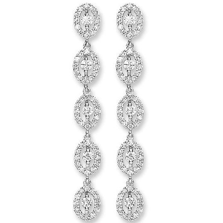 Selling: 18ct White Gold 1.25ct Diamond Drop Earrings