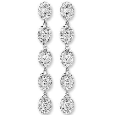 Selling: 18ct White Gold 1.25ct Diamond Drop Earrings
