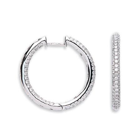 Selling: 18Ct White Gold 1.60ct Diamond Hoop Earrings