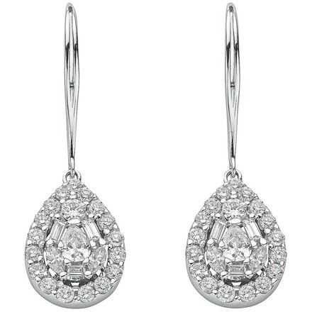 Selling: 18ct White Gold 1.70ct Diamond Drop Earrings