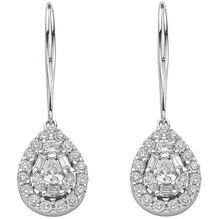 Selling: 18ct White Gold 1.70ct Diamond Drop Earrings