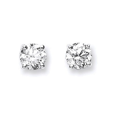 Selling: 18ct White Gold 1.00ct Claw Set Diamond Stud Earrings