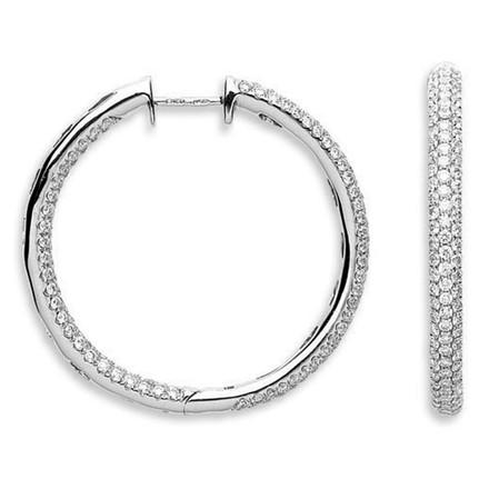 Selling: 18Ct White Gold 2.30ct Diamond Hoop Earrings