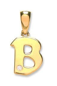 Selling: 9ct Yellow Gold 0.01ct Diamond B Initial