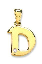Selling: 9ct Yellow Gold 0.01ct Diamond D Initial