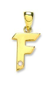 Selling: 9ct Yellow Gold 0.01ct Diamond F Initial