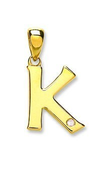 Selling: 9ct Yellow Gold 0.01ct Diamond K Initial