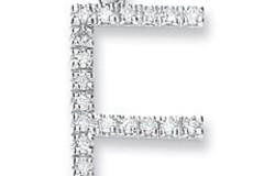 9ct White Gold 0.16ct Diamond F Initial