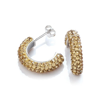 Selling: Half Hoop Stud with Champagne Cz