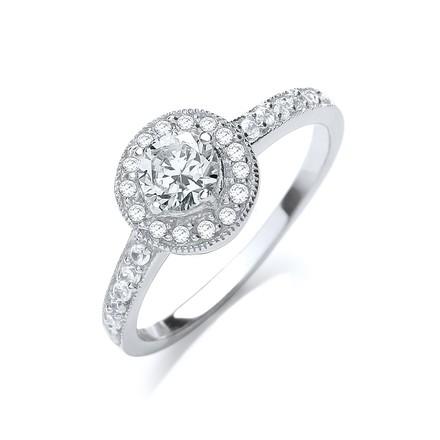 Fancy Round Brilliant Cz Ring
