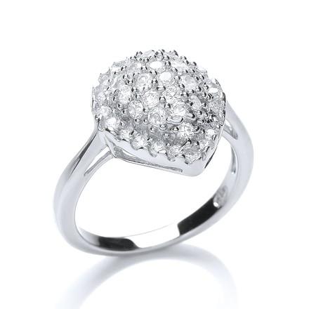 Fancy Pear Shape Cz Ring