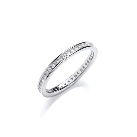2mm Full ET Rd/Bril. Cz Silver Ring