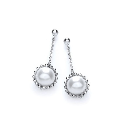 Selling: Swarovski Pearl Drop Earrings