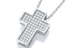Selling: Micro Pave' Cross with Chain