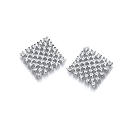 Selling: Three Multi Row Cz Stud Earrings