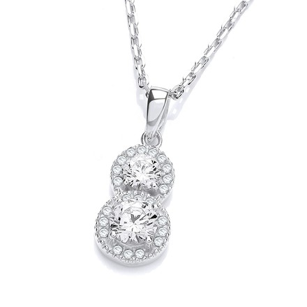 """Selling: Micro Pave' White Drop Pendant with 18"""" Chain"""