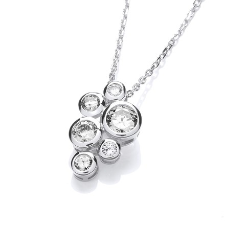 Selling: Timeless Rubover set CZs Pendant with Chain