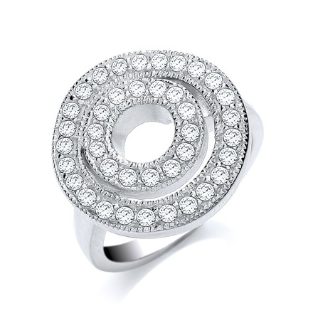Selling: Round 2 Row Fancy Cz Ring