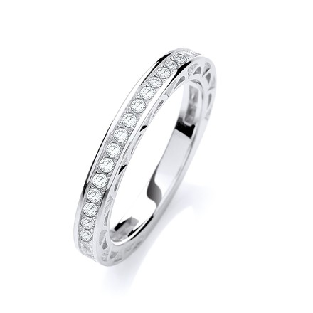 Selling: Micro Pave' 3/4 ET Ring Cz
