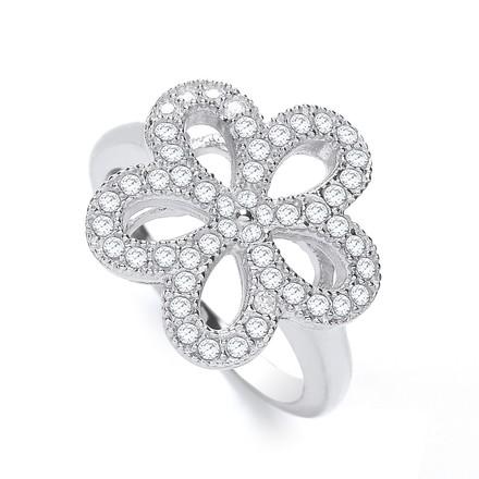 Selling: Daisy Shape Fancy Cz Ring