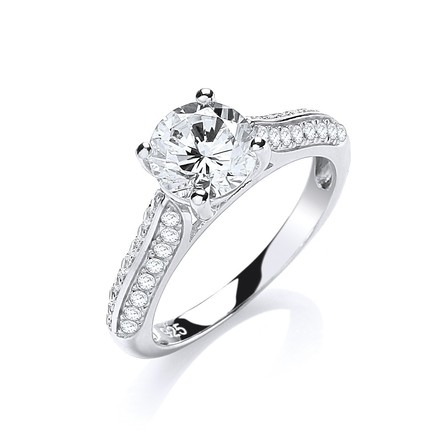Selling: Micro Pave' Solitaire Cz Ring
