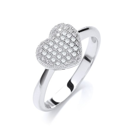 Selling: Micro Pave' Heart Shape Ring