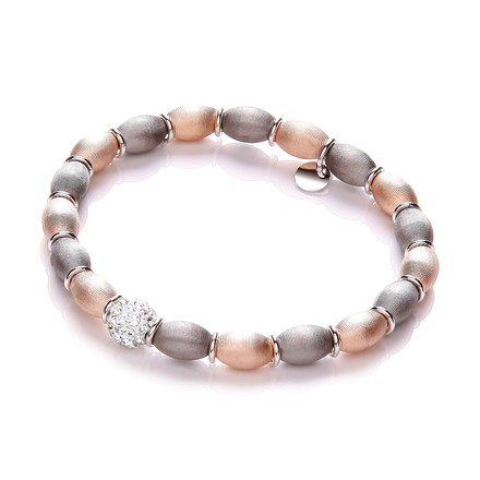 Selling: Rose & Ruthenium Plated with Crystal Bead Bracelet