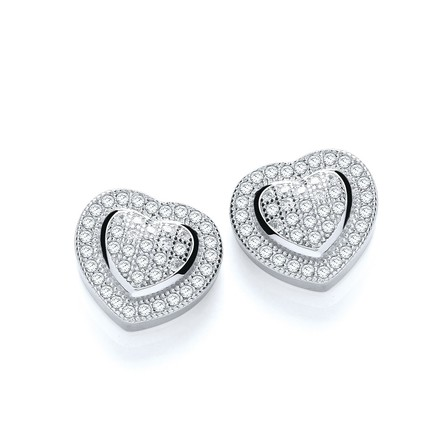 Selling: Micro Pave' Heart Stud
