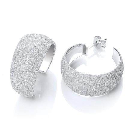 Selling: Moondust Finish Silver Colour Rh.Plated Earrings