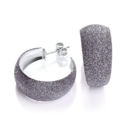 Selling: Moondust Finish Black Colour Rh.Plated Earrings