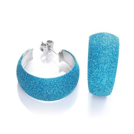 Selling: Moondust Finish Blue Colour Rh.Plated Earrings
