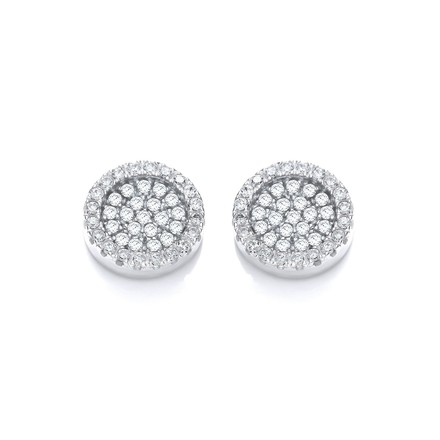 Selling: Micro Pave' Round Cz Stud Earrings