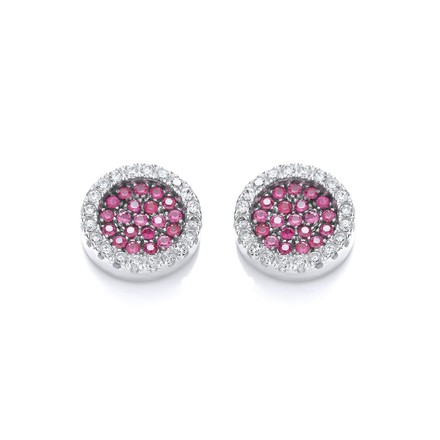 Selling: Micro Pave' Round Pink Cz Stud Earrings