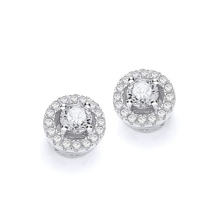 Selling: Micro Pave' Halo Style Cz Earrings