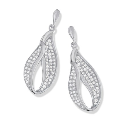 Micro Pave Drop Cz Earrings