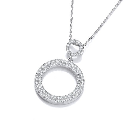 """Selling: Circle of Life Pave' set Cz Pendant with 18"""" Chain"""