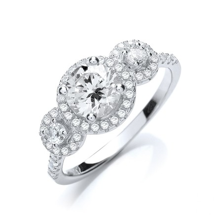 Selling: Micro Pave' Trilogy Ring & Cz all Around