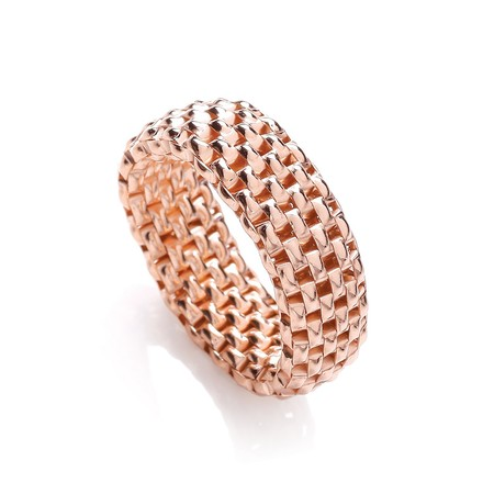 Selling: Stretchy Rose Colour Mesh 8mm Ring