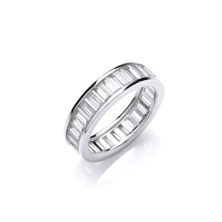 Selling: Full ET Baguette Channel Set Cz Ring