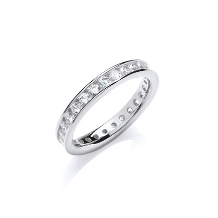 Selling: 3mm Full ET Rd/Bril. Cz Silver Ring