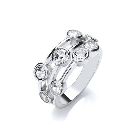 Selling: Timeless Style Rubover set CZs Ring