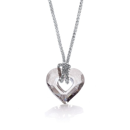 "Swarovski Crystal Small Heart Fancy 17"" Chain"
