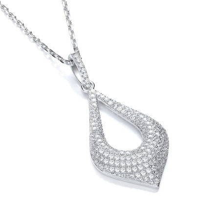 """Selling: Micro Pave' Fancy Pendant with 18"""" Chain"""