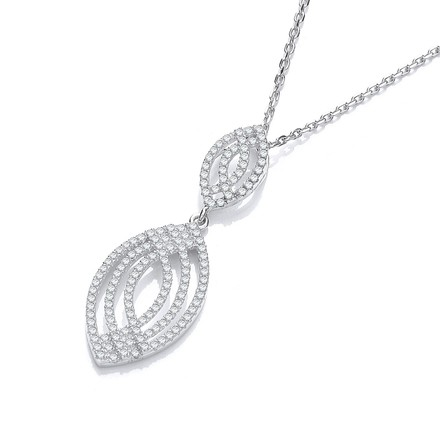 """Selling: Micro Pave' Fancy Cz Pendant with 18"""" Chain"""