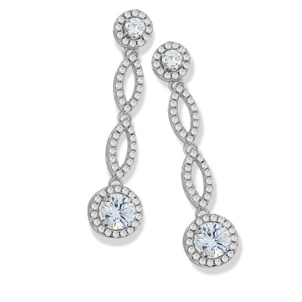 Selling: Micro Pave Drop Cz Earrings