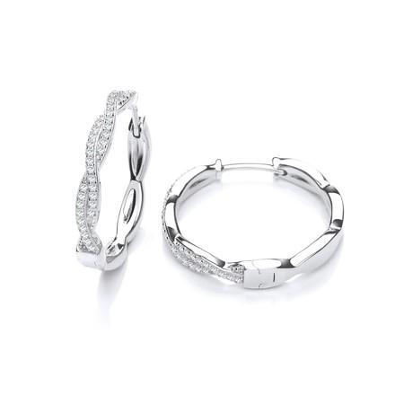 Selling: Entwined Hoop CZ Earrings
