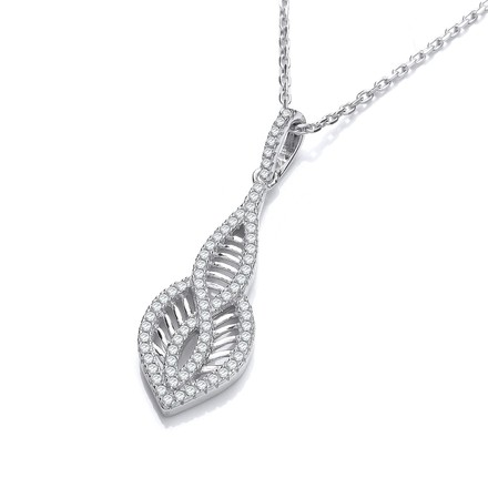 """Selling: Micro Pave' Cz Teardrop Pendant with 18"""" Chain"""